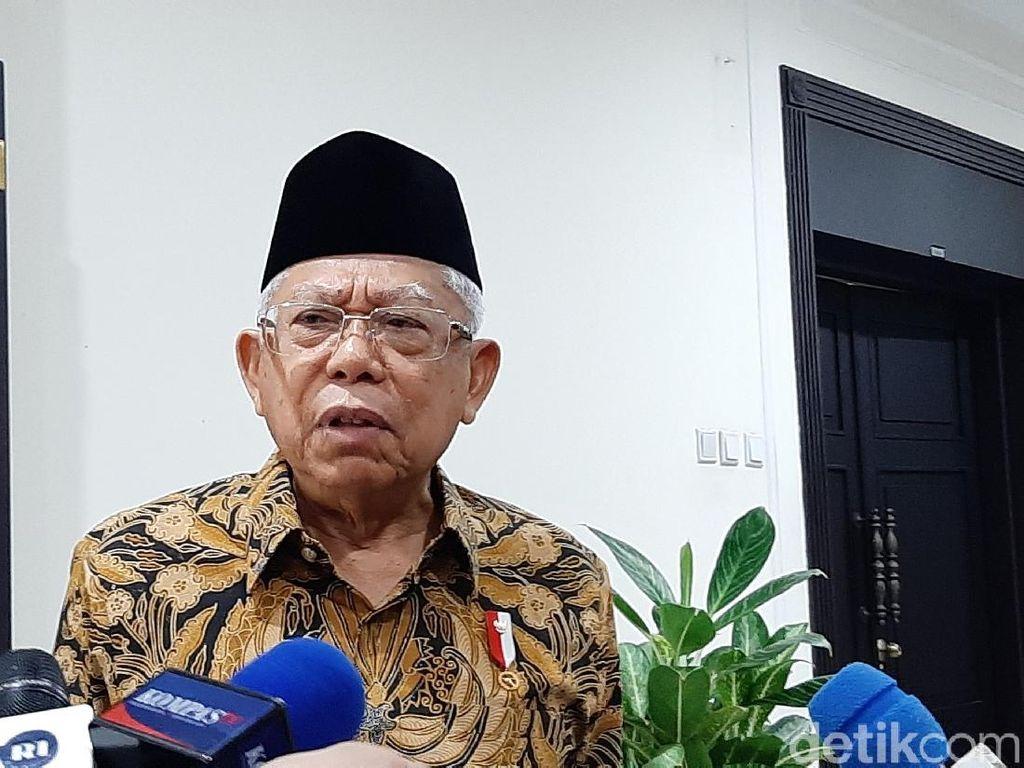 Wapres Maruf Tegaskan Draf Omnibus Law Tak Hapus Kewajiban Sertifikat Halal