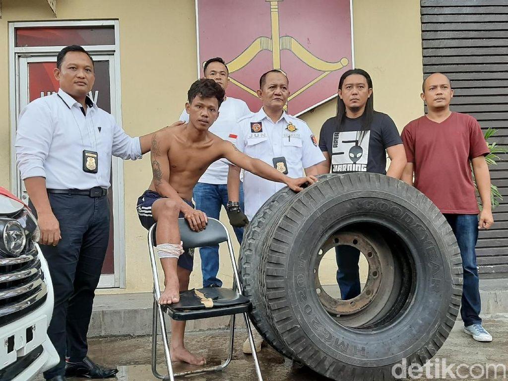 Bikin Resah Sopir-sopir, Pencuri Ban Mobil di Jalintim Sumatera Ditembak