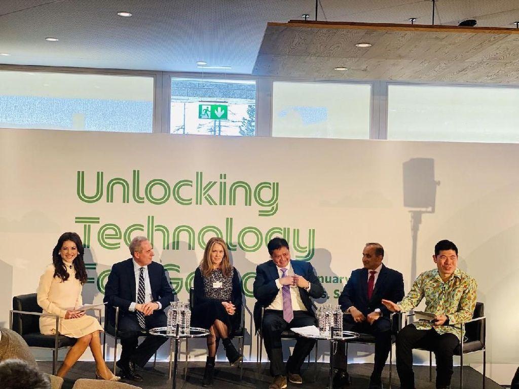 Di Forum Ekonomi Dunia, Grab Bahas soal Manfaat Teknologi