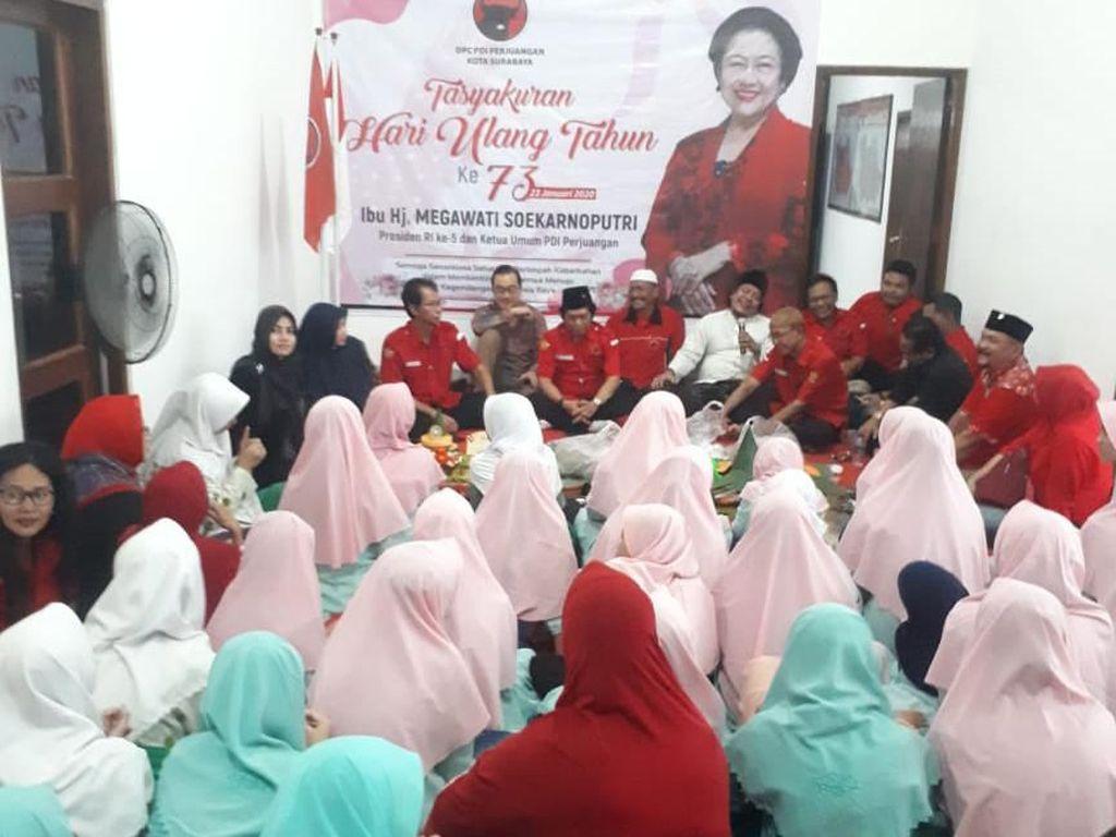 Megawati Ultah, Anak Yatim dan Penyandang Disabilitas Surabaya Doa Bersama