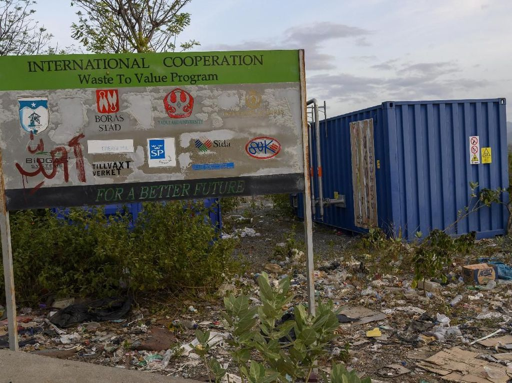 Potret Pembangkit Listrik Biogas yang Terbengkalai di Palu