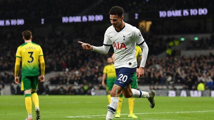 Tottenham vs Norwich: Spurs menang 2-1 di lanjutan Liga Inggris (Foto: Justin Setterfield/Getty Images)