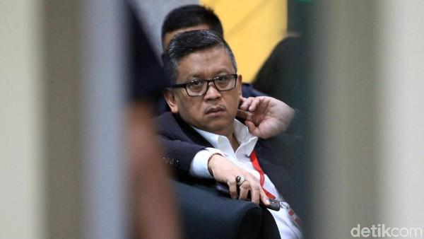 Sekjen PDIP Hasto Kristiyanto di gedung KPK. (Ari Saputra/detikcom)