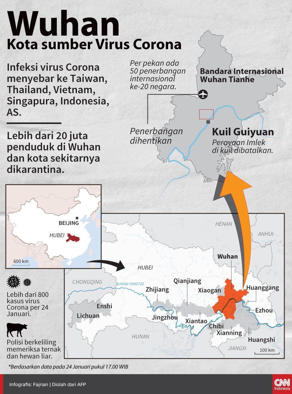 Infografis Wuhan Kota Sumber Virus Corona