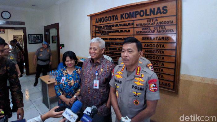 Kapolri Jenderal Idham Azis kunjungan kerja ke Kompolnas (Foto: Jefrie Nandy Satria/detikcom)