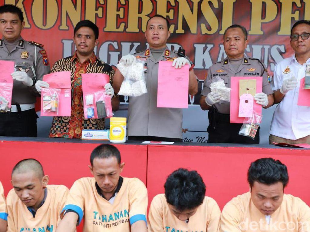 Nelayan, Sopir Hingga Pekerja Bengkel Ditangkap Edarkan Sabu