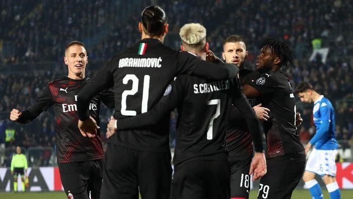 AC Milan menang 1-0 atas Brescia lewat gol tunggal Ante Rebic. (Foto: Marco Luzzani/Getty Images)