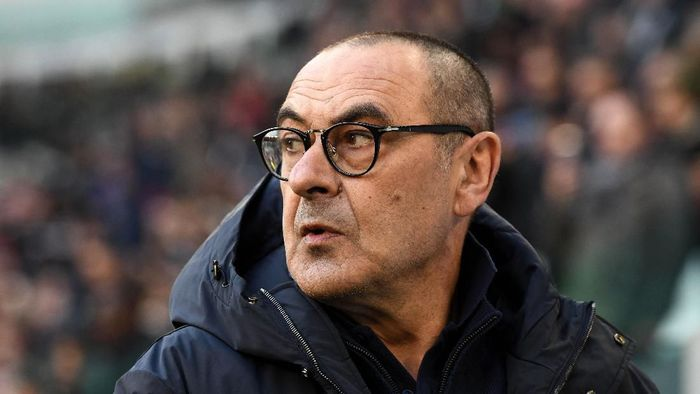 TURIN, ITALY - JANUARY 06: Maurizio Sarri, Manager of Juventus during the Serie A match between Juventus and Cagliari Calcio at Allianz Stadium on January 6, 2020 in Turin, Italy. (Photo by Chris Ricco/Getty Images)
