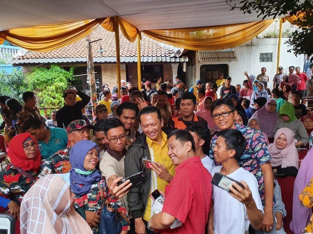 Ketua MPR Salurkan Bantuan ke Korban Banjir Cililitan Jaktim