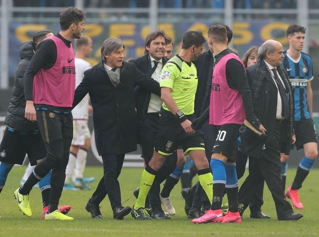 Inter Milan Diimbangi Cagliari, Conte Kabur dari Konferensi Pers
