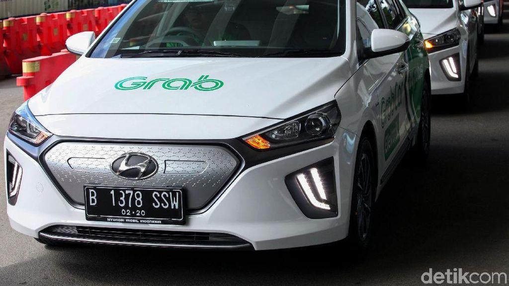 Menjajal Mobil Listrik Grab Hyundai IONIQ