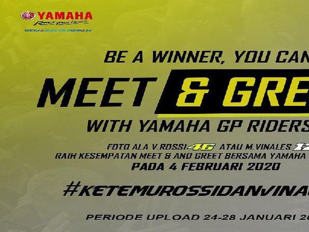 Foto Ala Pembalap MotoGP Yamaha, Bisa Ketemu Rossi dan Vinales