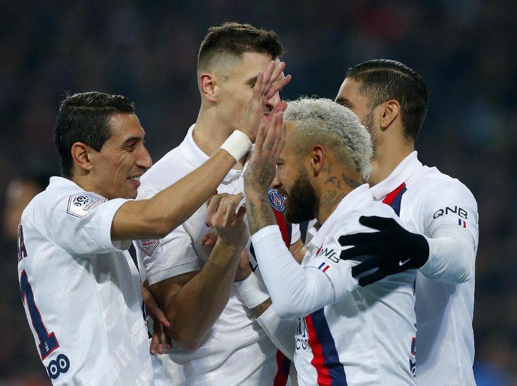 Dua Gol Neymar Menangkan PSG di Markas Lille