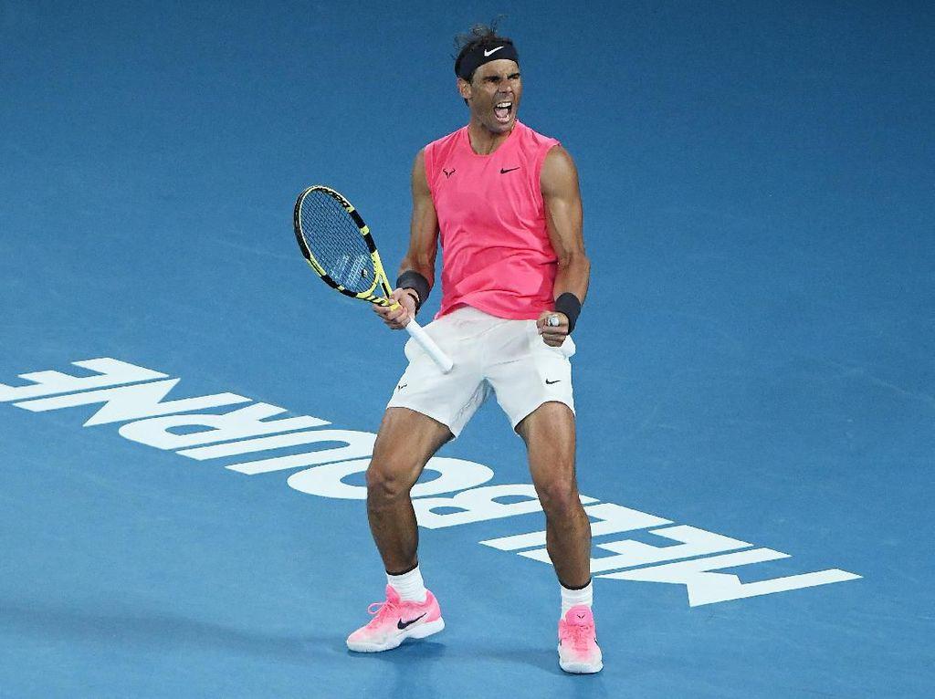 Kalahkan Kyrgios 4 Set, Nadal ke Perempatfinal Australia Terbuka