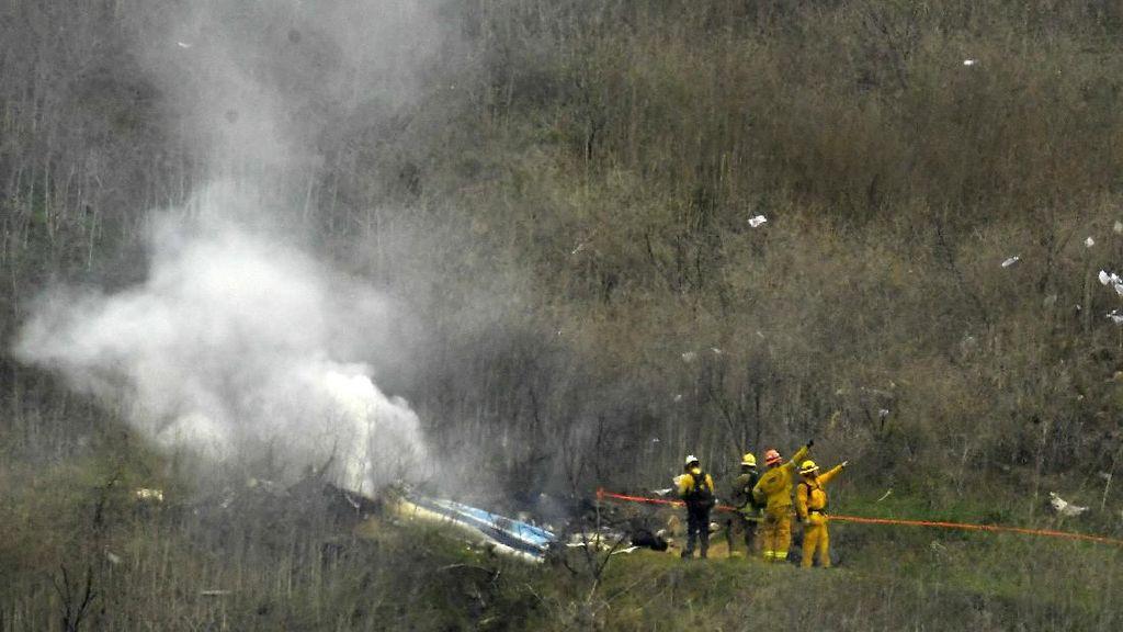 Penampakan Puing-puing Helikopter yang Tewaskan Kobe Bryant