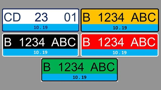 Alasan Warna Biru Dipilih Buat Pelat Nomor Kendaraan Listrik