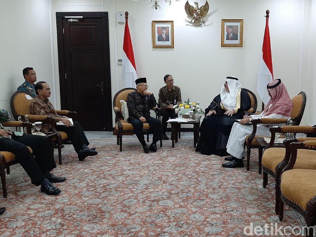 Dubes Saudi Temui Maruf Bahas Pembentukan Dewan Tinggi RI-Arab Saudi