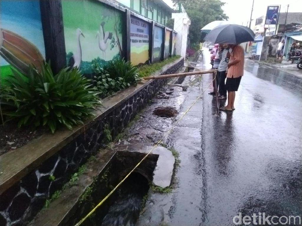 Ini Penampakan Gorong-gorong Ditemukannya Mayat Siswi SMPN Tasikmalaya