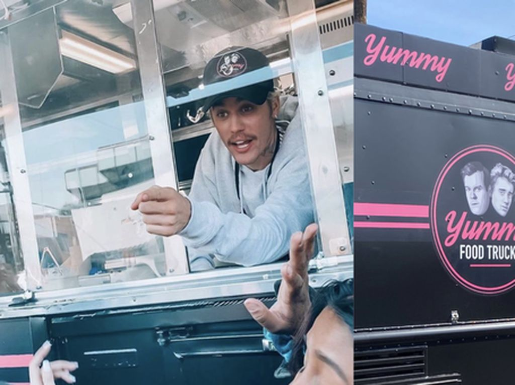 Rilis Lagu Yummy, Justin Bieber Bikin Taco di Food Truck Miliknya