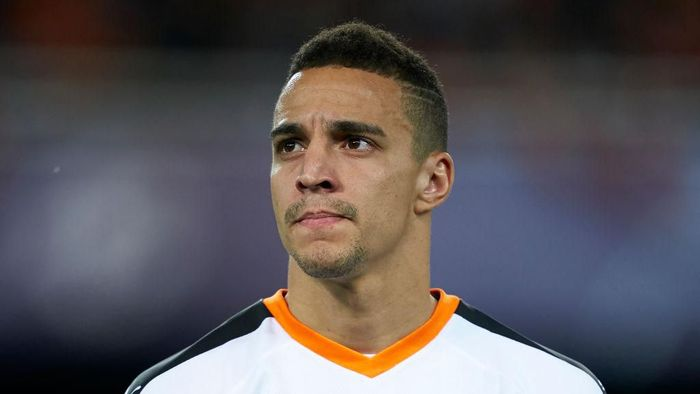 VALENCIA, SPAIN - NOVEMBER 27: Rodrigo Moreno of Valencia looks on prior to the UEFA Champions League group H match between Valencia CF and Chelsea FC at Estadio Mestalla on November 27, 2019 in Valencia, Spain. (Photo by Manuel Queimadelos Alonso/Getty Images)