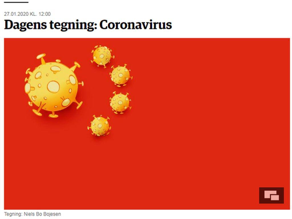 Koran Denmark Pasang Gambar Satire Virus Corona, China Marah