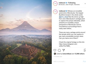 Januari: Borobudur dengan Gunung Lancip-Turis RI Bikin Shinkansen Telat