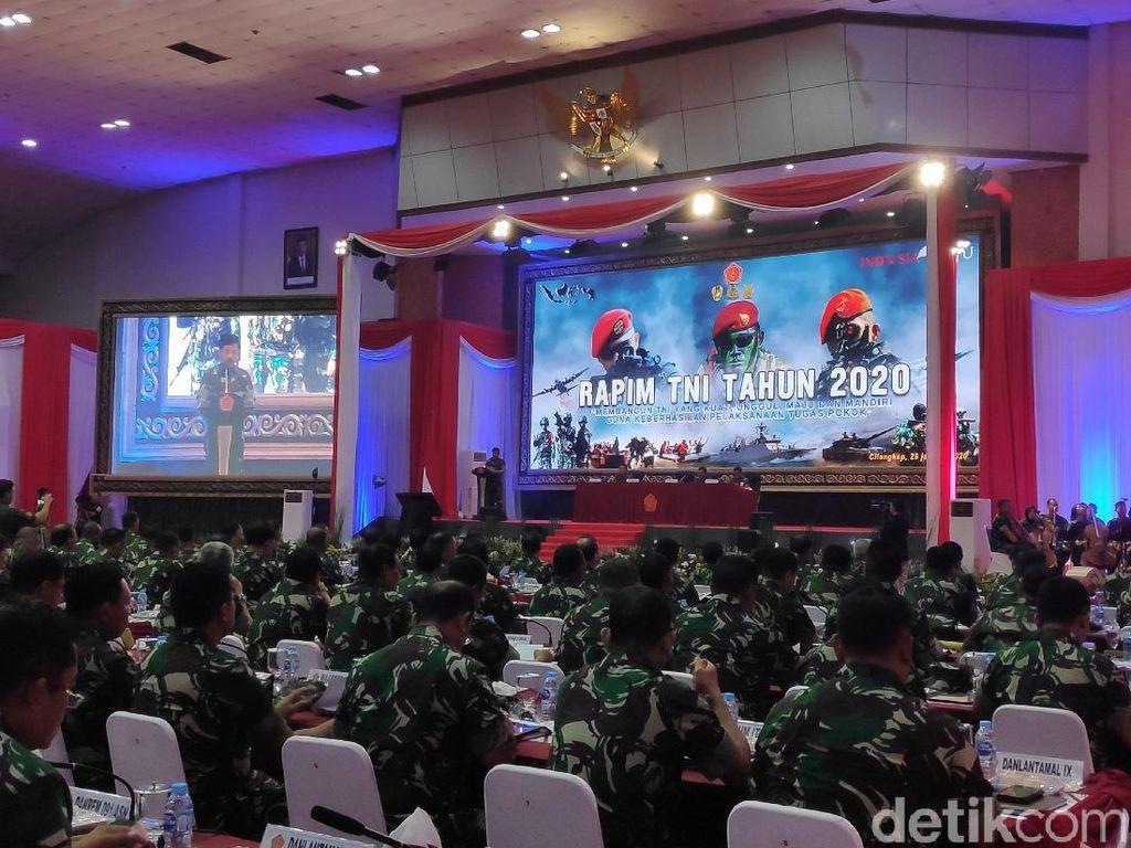 Pimpin Rapim TNI, Panglima Bicara Satuan Baru untuk TNI Lebih Maju