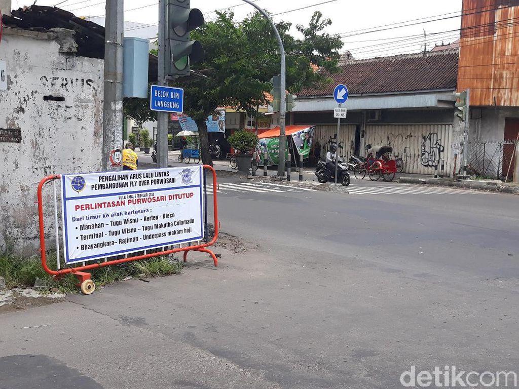 Flyover Dibangun, Perlintasan KA Purwosari Solo Ditutup 5 Februari