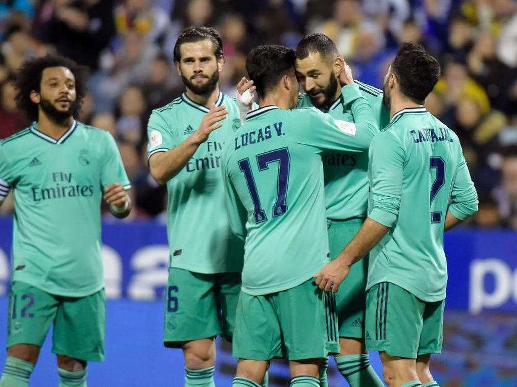 Bantai Zaragoza, Real Madrid Melaju ke Perempatfinal Copa del Rey