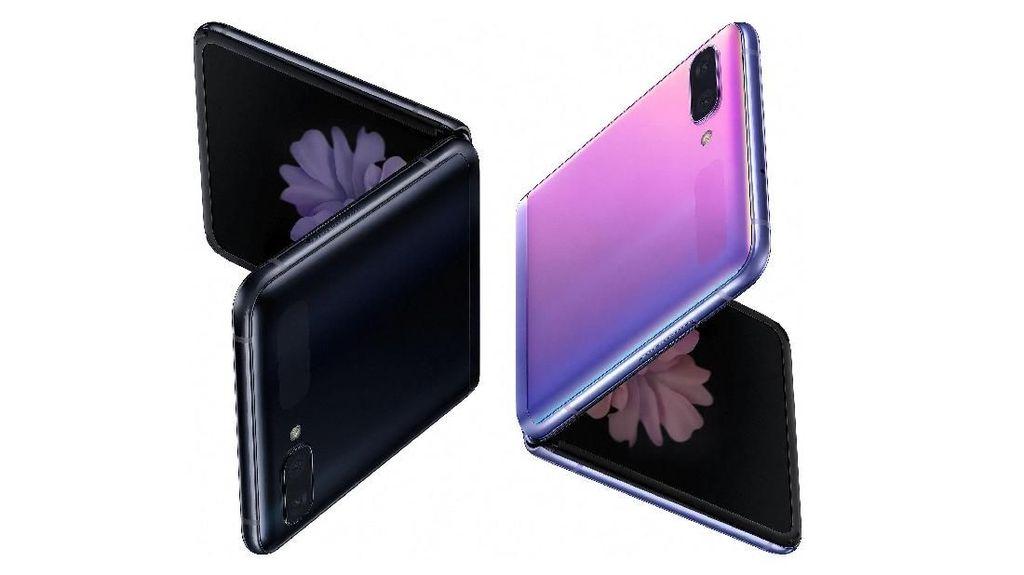 Penampakan Ponsel Layar Lipat Galaxy Z Flip dari Berbagai Sisi