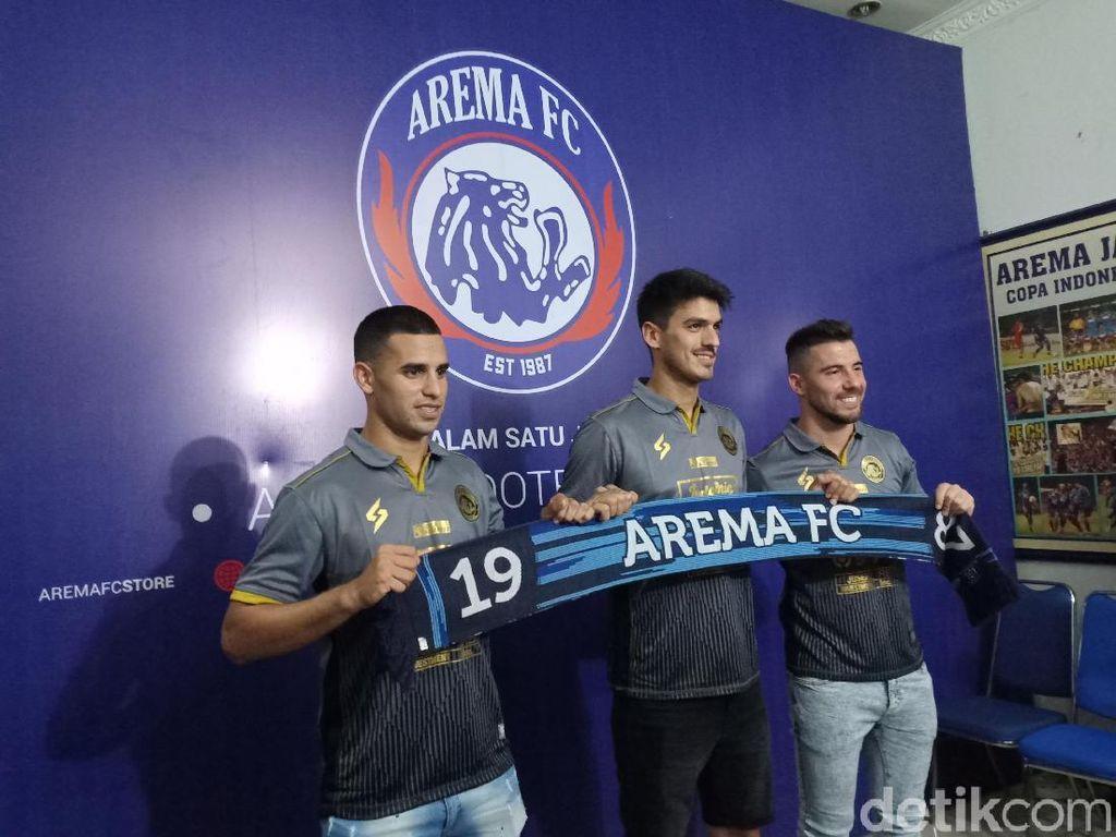 3 Pemain Asing Direkrut Arema FC, Salah Satunya Jonathan Bauman