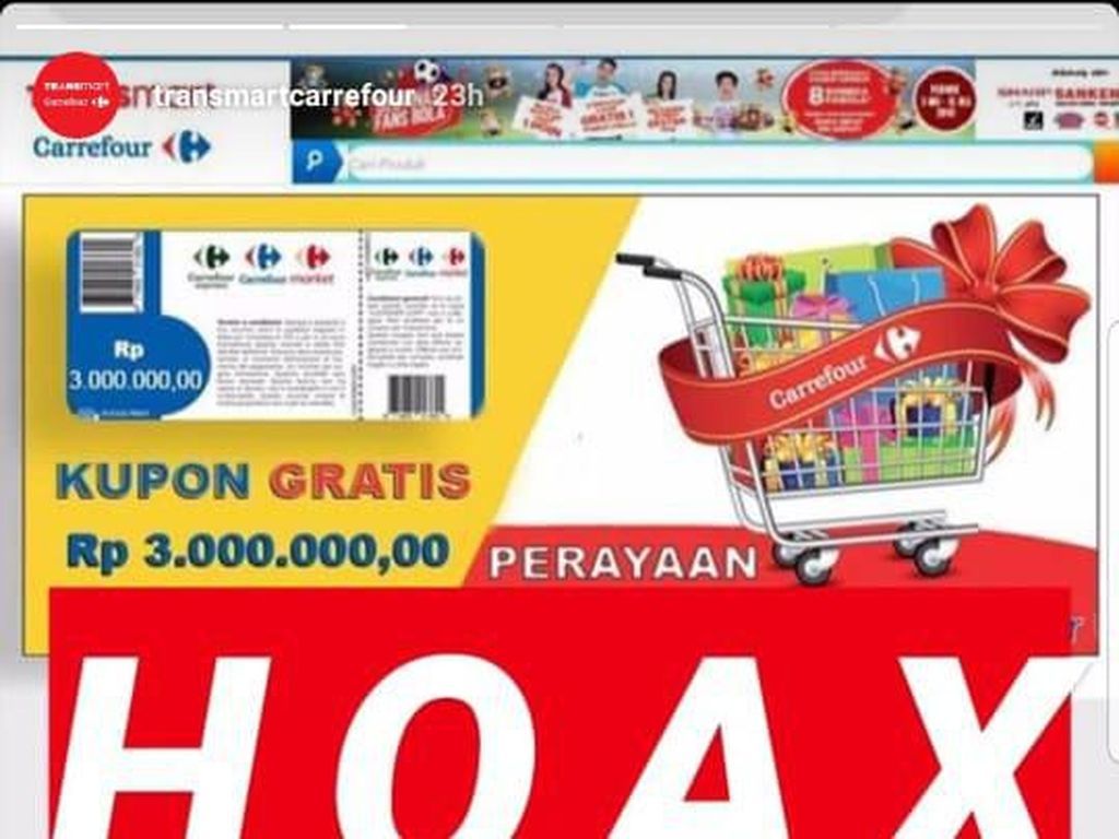 Waspada Hoax Kuis HUT Transmart Carrefour!