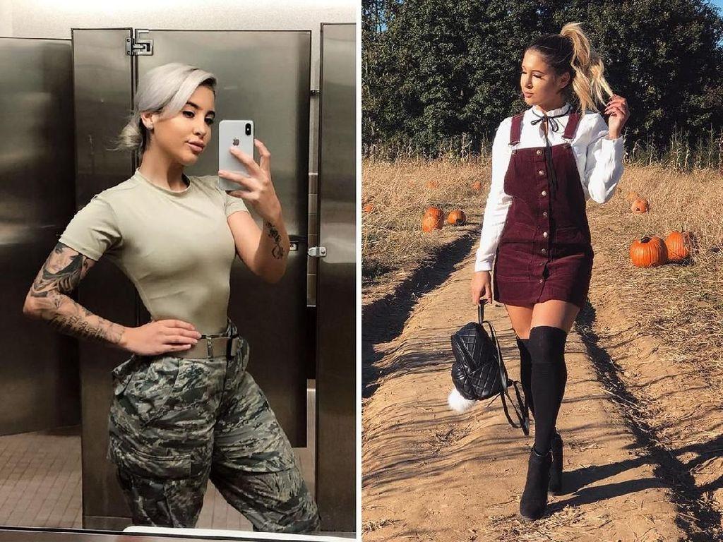 Beda Gaya 10 Tentara Wanita Saat Dinas VS Kasual yang Bikin Pangling