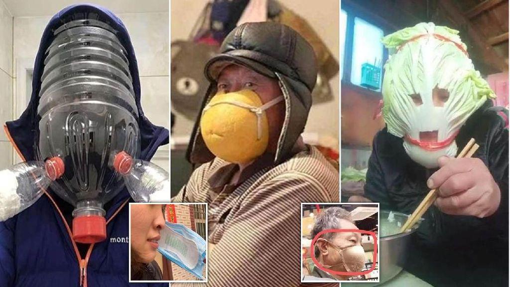 Warga China Manfaatkan Masker Sawi hingga Kulit Jeruk Untuk Tangkal Virus Corona