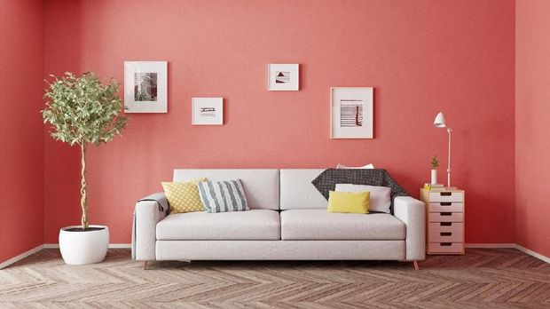 Ilustrasi ruang tamu di rumah minimalis
