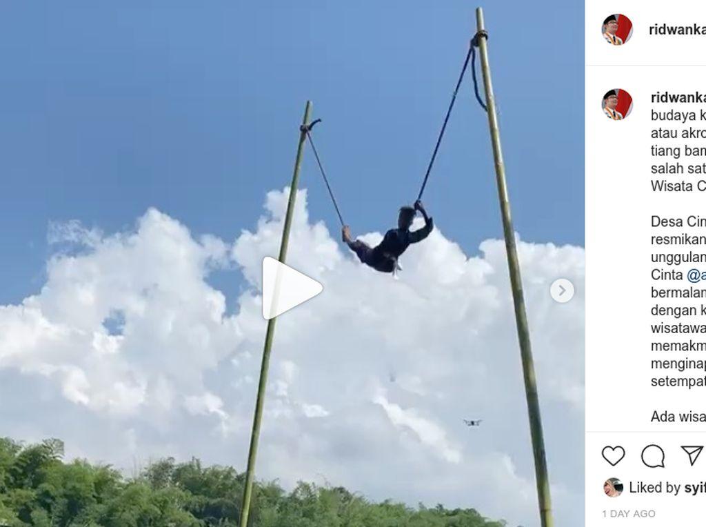 Ridwan Kamil Posting Video Ekstrem