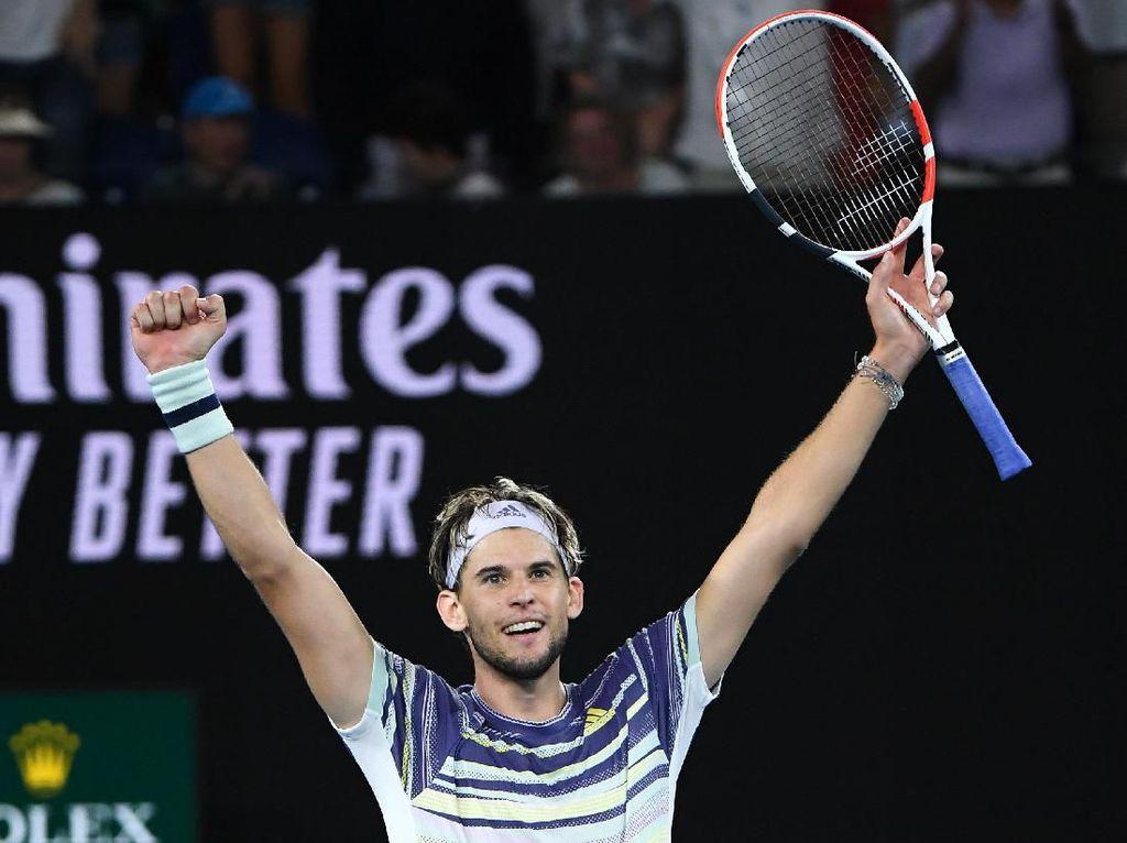 Kalahkan Zverev, Thiem Tantang Djokovic di Final Australia Terbuka