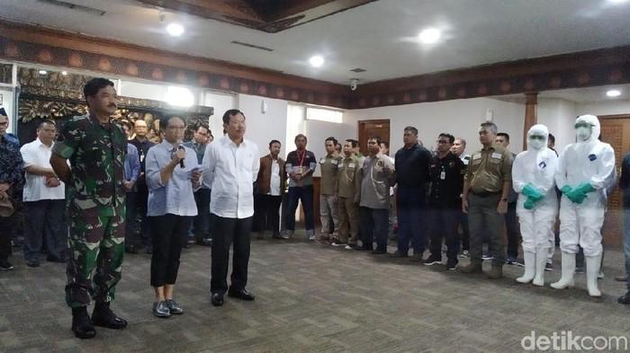 Konperensi Pers soal Penjemputan WNI di China (Foto: Wilda/detikcom)