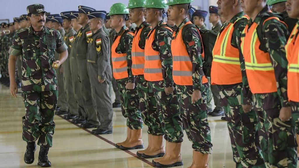 Panglima TNI Lepas Satgas Garuda ke Australia