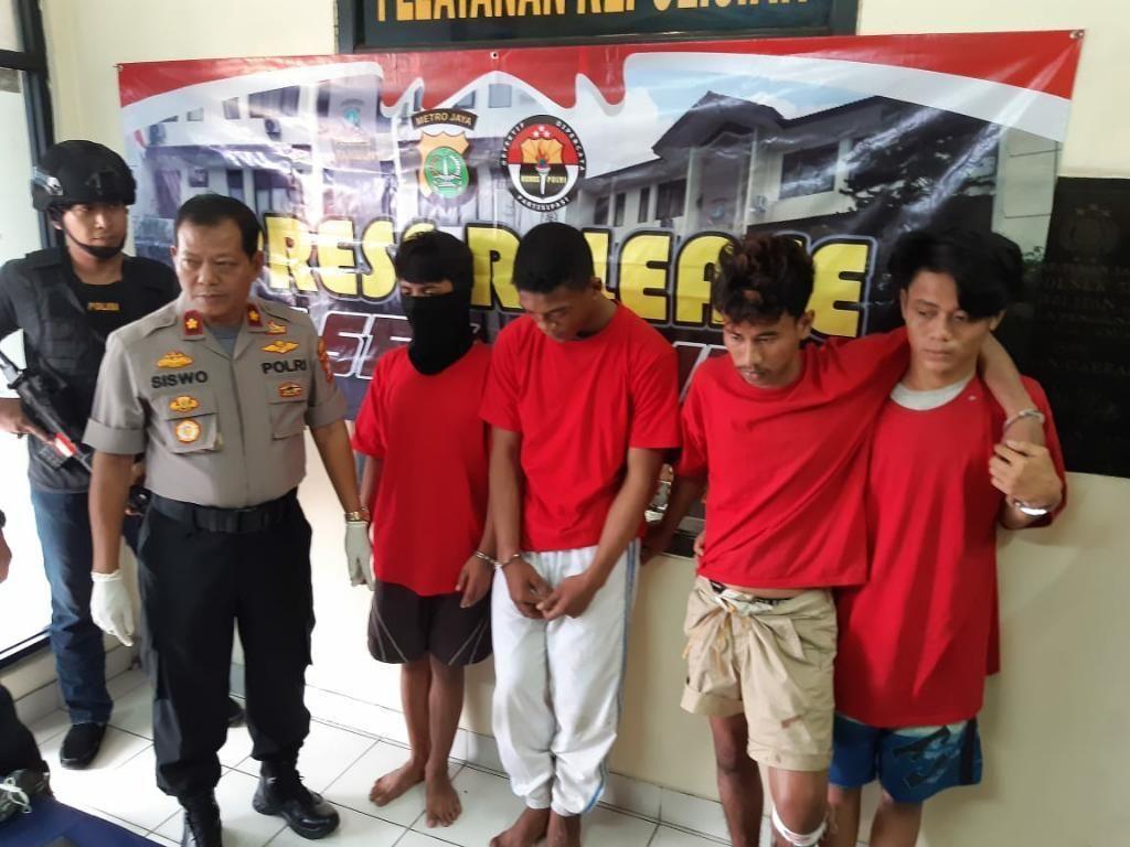 Sikat Habis! 4 Komplotan Begal Sadis di Tambun Bekasi Ditangkap Lagi
