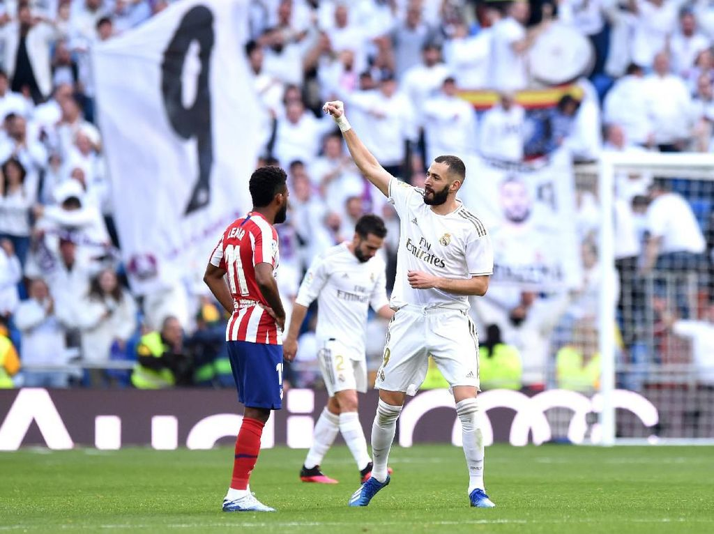 Madrid Vs Atletico: Gol Tunggal Benzema Menangkan Los Blancos