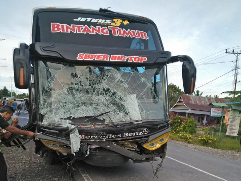 Tabrakan Maut Bus Vs Mobil di Luwu Timur Sulsel, 5 Orang Tewas