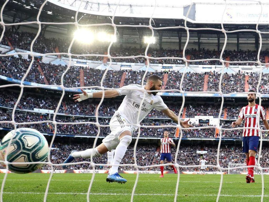 Akhirnya...Karim Benzema Bikin Gol di Kandang Saat Derby Madrid