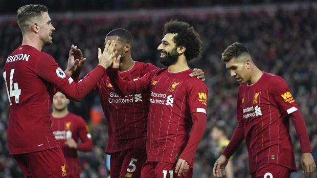 Liverpool belum terkalahkan di Liga Inggris.