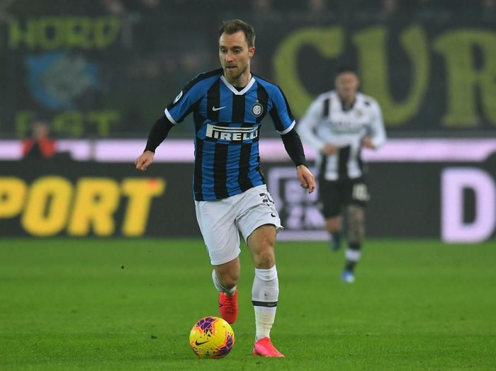 UDINE, ITALY - FEBRUARY 02: Christian Eriksen of FC Internazionale in action during the Serie A match between Udinese Calcio and  FC Internazionale at Stadio Friuli on February 2, 2020 in Udine, Italy.  (Photo by Alessandro Sabattini/Getty Images)