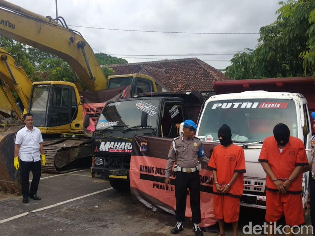 Razia Tambang Ilegal di Gunungkidul, Polisi Sita Alat Berat-Truk
