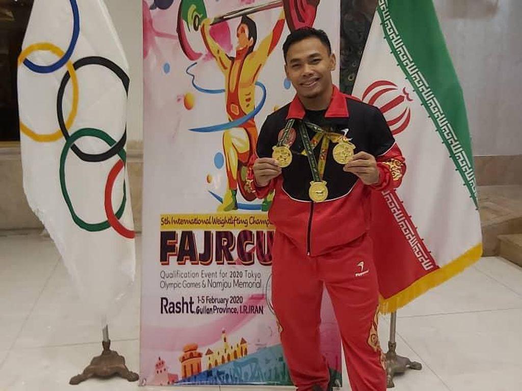 Eko Yuli cs Gondol 6 Emas dari Kejuaraan Angkat Besi di Iran