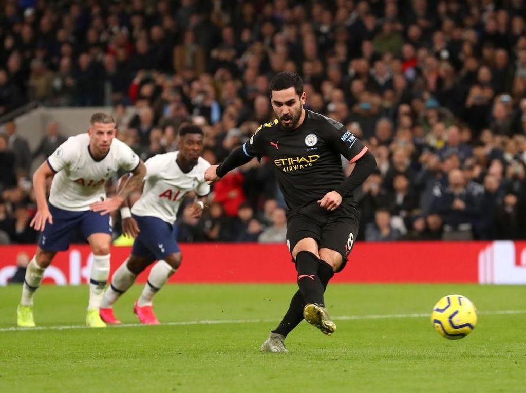 Penalti Guendogan Gagal, Tottenham Vs Man City Masih 0-0