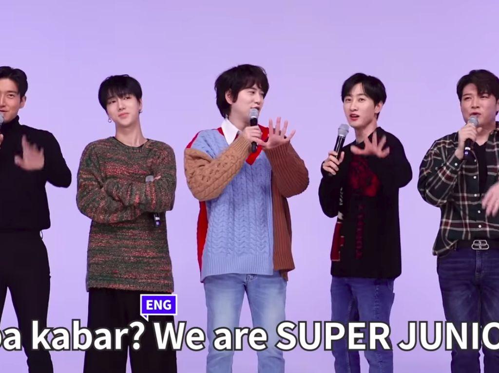 Kocak! Super Junior Ditantang Nyanyi Pakai Bahasa Indonesia