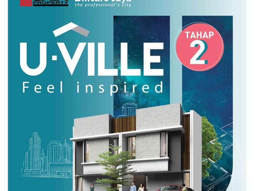 Bintaro Jaya Pasarkan Rumah U-Ville untuk Milenial, Angsuran Rp 7 Jt-an
